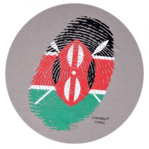 Kenya thumb print t-shirt (Clay)