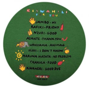 Kiswahili for you t-shirt (Green)