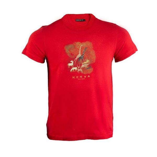 Kenya Cave Painting T-shirt (Terra Cotta)