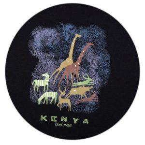 Kenya Cave Painting T-shirt (Black)