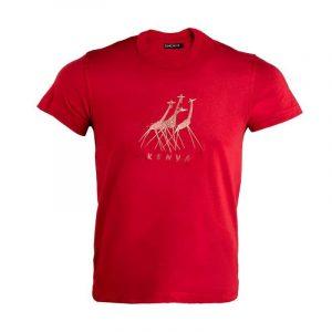 Running Giraffes t-shirt (Terra Cotta)