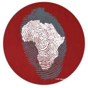 Africa Thumb Print t-shirt (Terra Cotta)