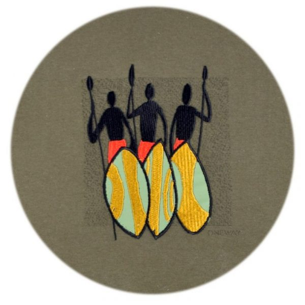 Three Maasai Warriors t-shirt (Olive)