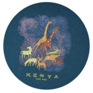 Kenya Cave Painting T-shirt (Petrol)