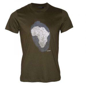 Africa Thumb Print t-shirt (Olive))