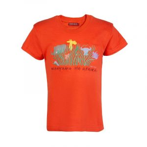 Wanyama wa Africa kids t-shirt (Orange)
