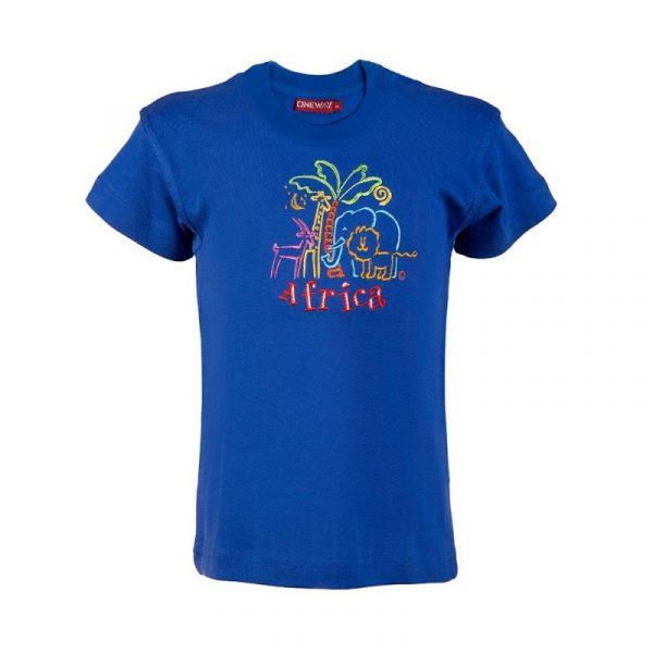 African Animals t-shirt kids (E.Blue)