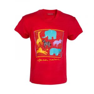 Africa Nature kids t-shirt (Red)